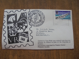 S001: FDC: Tarr Steps Prehistoric 4d. North Western Federation Of Philatelic Societies.Founded 1948. - FDC