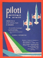 Piloti Aviazione Locandina 1968 Concorso Aeronautica Vicenza Avion Flight Al Retro SEP - Aviazione