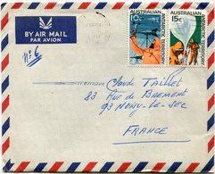 TERRITOIRE ANTARCTIQUE AUSTRALIEN  LETTRE PAR AVION DEPART SYDNEY ? MAY ? POUR LA FRANCE - Lettres & Documents