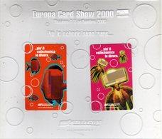 Telecom Europa Card Show 2000 FOLDER Con 2 Schede Telefoniche Nuove - Francobolli & Monete