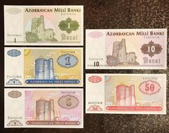Azerbaigian  1992 1993 5 Banconote Fds Unc Lotto 2307 - Azerbaïdjan