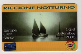 Westel Intelcom RICCIONE NOTTURNO Europa Card Show 2000 Scheda Telefonica Nuova - Timbres & Monnaies