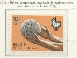 PIA - BELG - 1973 : Primo Campionato Del Mondo Di Pallacanestro Per Handicappati -  (Yv  1656) - Handisport