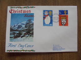 S005: FDC: Christmas Issue. 1966. 1/6d & 3 Old Pence. - FDC