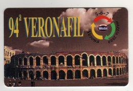 Westel Intelcom 94^ VERONAFIL 2000 Scheda Telefonica Nuova Arena Teatro - Francobolli & Monete