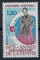 ANDORRA FR. -  1975 - ANNO INTERNAZIONALE DELLA DONNA -MNH** - Andorre Français