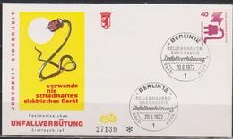 Berlin FDC 1971 MiNr 407 Unfallverhütung. Defekter Stecker (d 6156)  Günstige Versandkosten - FDC: Briefe