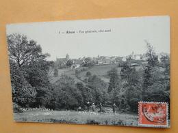 AHUN  (Creuse) -- Lot 3 Cpa - Vue Générale, Intérieur Eglise & Place De L'Eglise - Café Jayant - ANIMATION Sur 2 Cpa - Other Municipalities