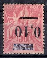 Madagascar Variété Maury N° 53d Surcharge Renversée Neuf (*). B/TB. A Saisir! - Ungebraucht