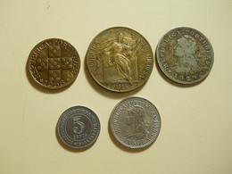 Lot 10 Coins Mostly Portuguese - Monnaies & Billets
