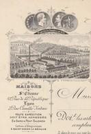 Facture 1891 / Théodore VERON / Manufacture Carton Papier / 43 St Didier La Séauve / Haute-Loire - 1800 – 1899