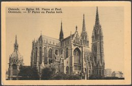 Eglise SS Pierre Et Paul, Ostende, Flandre-Occidentale, C.1920s - UPB CPA - Oostende