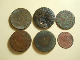 Lot 15 Coins Bad Grade 1 Holed - Monnaies & Billets