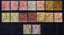 France Belle Petite Collection De Sage Oblitérés 1876/1900. Bonnes Valeurs. B/TB. A Saisir! - 1876-1878 Sage (Typ I)