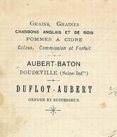 Facture Lettre 1893 / 76 DOUDEVILLE / DUFLOT-AUBERT / Grains, Graines, Charbons Anglais Et Bois - France