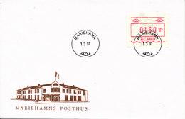 Aland FDC Mariehamn 1-3-1991 FRAMA Label With Cachet - ATM - Frama (vignette)