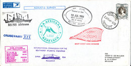 South Africa Paquebot Cover Cape Town Posted At Sea 10-7-1984 RS/NS Africana 22 Voyage With A Lot Of Postmarks - Covers & Documents