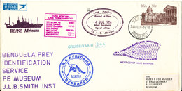 South Africa Paquebot Cover Cape Town Posted At Sea 4-7-1986 RS/NS Africana 46 Voyage With A Lot Of Postmarks - Covers & Documents