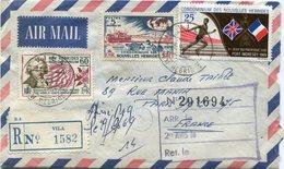 NOUVELLES HEBRIDES LETTRE RECOMMANDEE PAR AVION DEPART VILA 26-9-69 NEW HEBRIDES POUR LA FRANCE - Légende Française