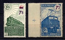 France Colis Postaux Maury N° 217sf Et N° 220sf Sans Filigrane Neufs ** MNH. TB. A Saisir! - Paketmarken