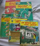 LUCKY LUKE Stripboeken 5 Verschillende Delen : 11-13-15-19-20 Zie Scans Voor- En Achterzijde ! - Lucky Luke