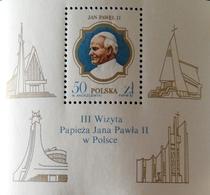 Poland 1987 State Visit Of Pope Jean Paul II S/S - 1944-.... Republic