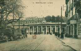 MONTPELLIER  La Gare Belles Voitures Anciennes RV - Montpellier