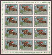 Equat.Guinea 1972 Kleinbogen Mi 127B MNH SUMMER OLYMPICS - HORSES - Paarden