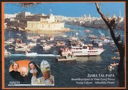 Malta Mini Sheet To Celebrate Visit Of Pope John Paul II In Unmounted Mint From 2001. - Malta