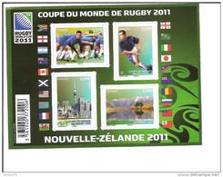 Bloc F 4576 Annee 2011 Neuf, Coupe Du Monde De Rugby 2011 - Blocks & Kleinbögen