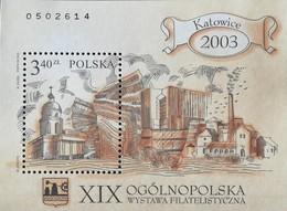 Poland  2003  19th. National Philatelic Exhibition .Katowica   S/S - 1944-.... Republic
