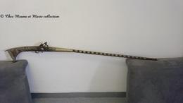 MOUKHALA - FUSIL SILEX AVEC BAGUETTE INCORPOREE - MAROC - ETOILE 5 BRANCHES - Decorative Weapons