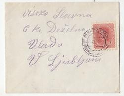 Austria Slovenia Letter Cover Travelled 1918? Reifnitz Krain (Ribnica) To Ljubljana B180910 - Slovenia