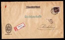 A5619) DR R-Brief Hannover 6.1.27 N. Bückeburg EF Mi.396 - Deutschland