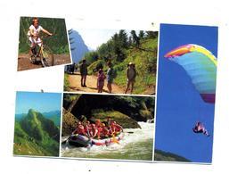 Carte Sport  Loisir Velo Parachute Marche Rafting Cachet Annecy Meythet Curiosité !!! - Postcards