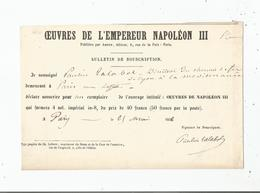 PAULIN TALABOT (1799 LIMOGES 1885 PARIS) INGENIEUR POLYTECHNICIEN FRANCAIS (CHEMIN DE FER) PAPIER SIGNE 1856 - Autographes