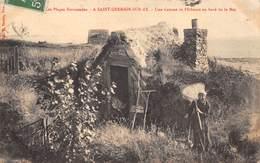50-SAINT-GERMAIN-SUR-AY- UNE CABANE DE PÊCHEURS AU BORD DE LA MER - Frankreich