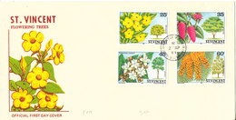 St. Vincent FDC 2-4-1984 Flowering Trees With Cachet - St.Vincent (1979-...)