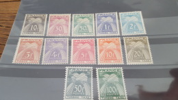 LOT 414225 TIMBRE DE FRANCE NEUF* N°78 A 89  VALEUR 120 EUROS - Segnatasse