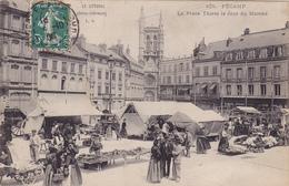 FECAMP La Place Thiers Le Jour Du Marché ( LJ 105 ) - Fécamp