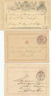 284/27 - Ensemble De 7 Entiers Cartes Postales ( Dont No 1) - Cachets Double Cercles De LIEGE 1872/1875 - Entiers Postaux
