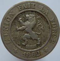 Belgium 10 Centimes 1862 VF - 1831-1865: Léopold I