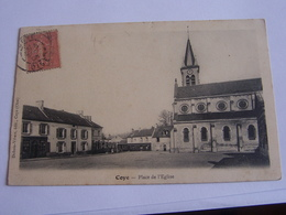 Coye Place De L Eglise Cpa - Frankrijk