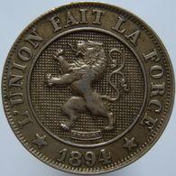 Belgium 10 Centimes 1894 XF - 1865-1909: Leopoldo II