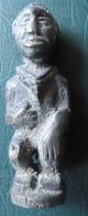 HOMME AU COLLIER DEBOUT - KONGO - Bronze Massif (cire Perdue) - African Art