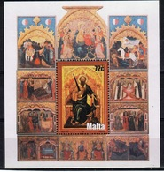 Malta Mini Sheet To Celebrate Art In Unmounted Mint Condition From 2004. - Malta
