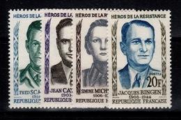YV 1157 à 1160 N** Heros De La Resistance II Cote 6,50 Euros - Unused Stamps
