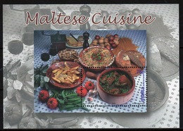 Malta Mini Sheet To Celebrate Maltese Cookery In Unmounted Mint Condition From 2002. - Malta