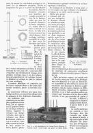 LA  PLUS HAUTE CHEMINEE DU MONDE EN BETON ARME   1911 - Sciences & Technique