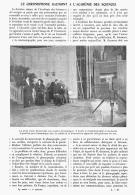 """LE CHRONOPHONE  """" GAUMONT """"  à   L'ACADEMIE  DES  SCIENCES   1911 - Photography"""